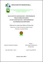 Atlas geologiczno-inżynierski Katowic - opracowanie