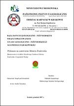 Atlas geologiczno-inżynierski Krakowa - opracowanie