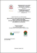 Atlas geologiczno-inżynierski Łodzi - opracowanie