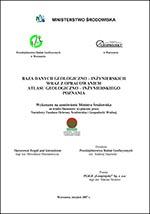 Atlas geologiczno-inżynierski Poznania - opracowanie