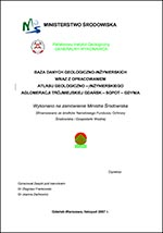Atlas geologiczno-inżynierski Trójmiasta - opracowanie