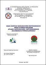Atlas geologiczno-inżynierski Wrocławia - opracowanie