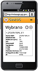 Screen 7 from application GeoLOG