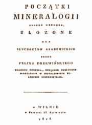strona tytułowa Początki mineralogii