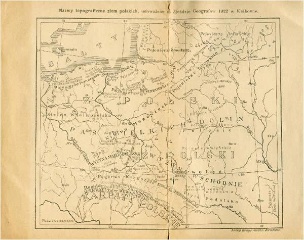 Średniogórze Polskie (wg L. Sawickiego, 1922)