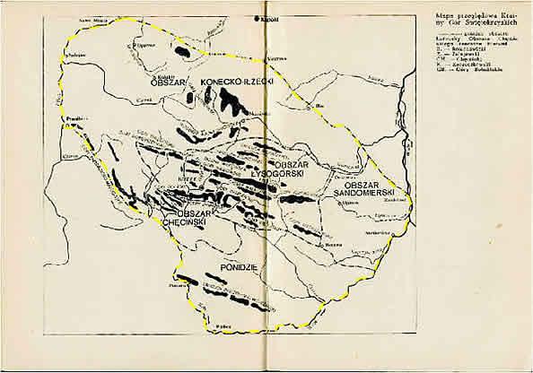 Kraina Gór Świętokrzyskich (wg E. Massalskiego, 1967)