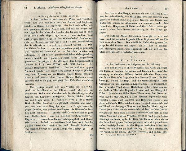 """Opis """"das Polnische Mittelgebirge"""" w dziele J. B Puscha (1833)"""