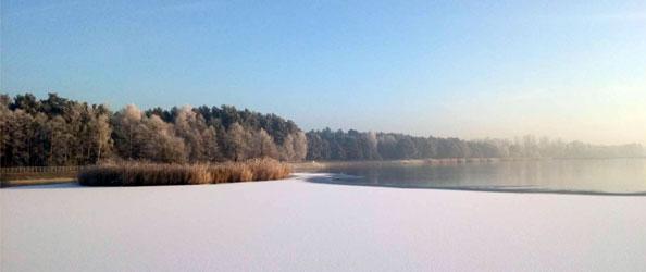 Zalew w Borkowie na rzece Belniance