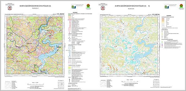 Przykładowe arkusze Mapy Geośrodowiskowej Polski w skali 1:50 000