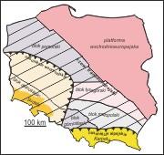 Jednostki tektoniczne Polski