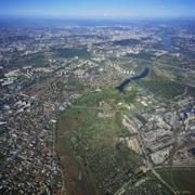 zdjęcie lotnicze tarasy Wisły