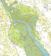 zasięg tarasów - mapa