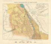 mapa geologiczna Warszawy