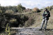Kolisty lej zapadliskowy po szybie Austriackim na południowym zboczu Miedzianki