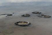 Stromatolity: A - Kopalne (Zachełmie) i B - współczesne( Zatoka Rekinów, Zachodnia Australia).